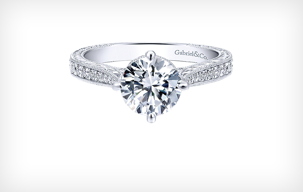 Shop designer Engagement Rings from Gabriel and Co and others